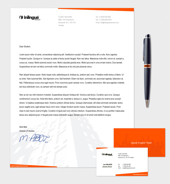 Corporate Documents Template Design for International School of ...