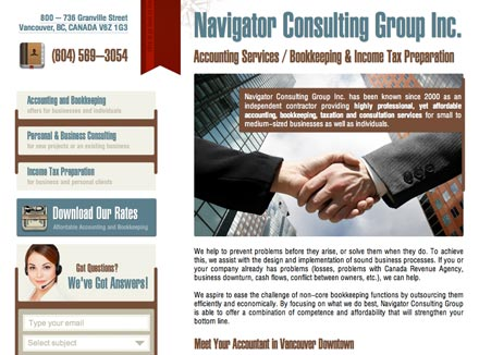 Corporate Website Design for Consulting Company Navigator Group