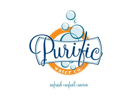 Branding & Identity Design for Spring Water Producer Purific